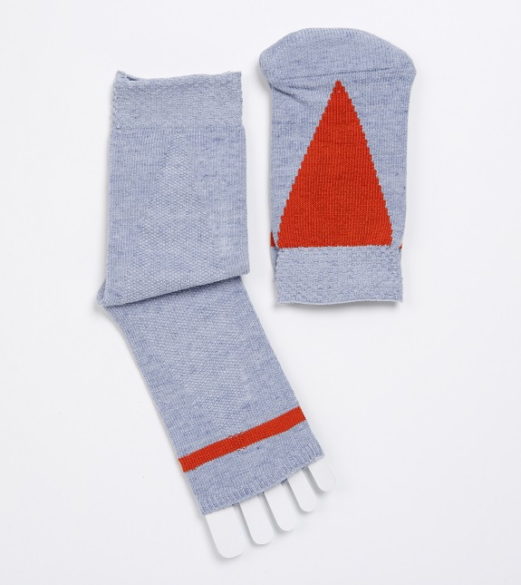 2TONE TRIANGLE OPENTOE SOCK