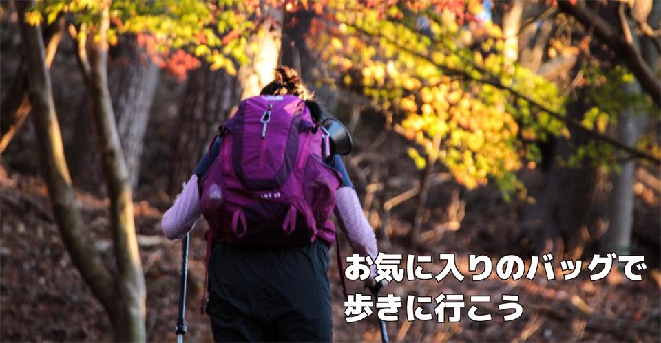 お気に入りのバッグで歩きに行こう