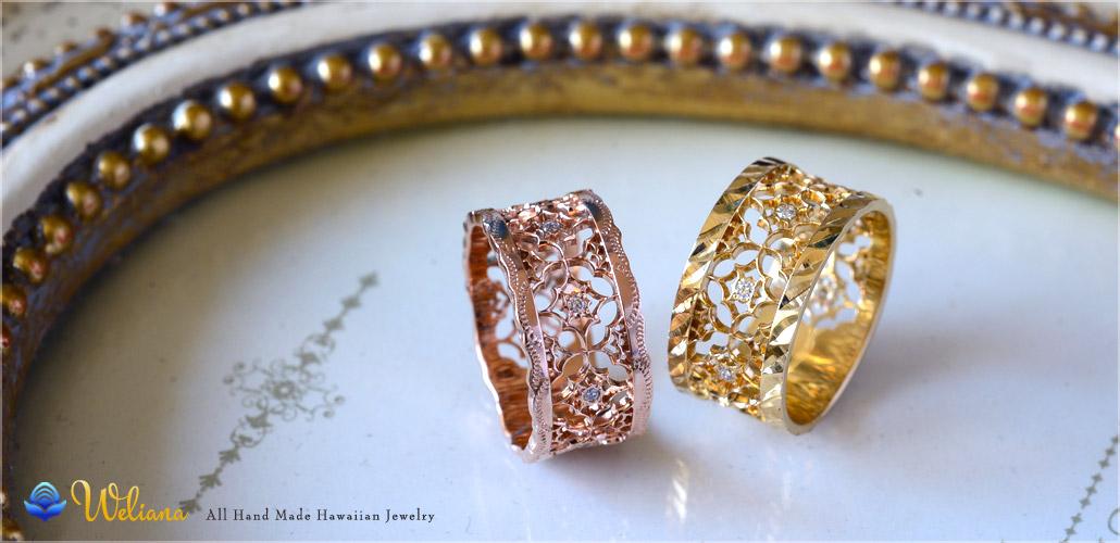 ハワイアンジュエリー アロハマナ-GOLD Ring