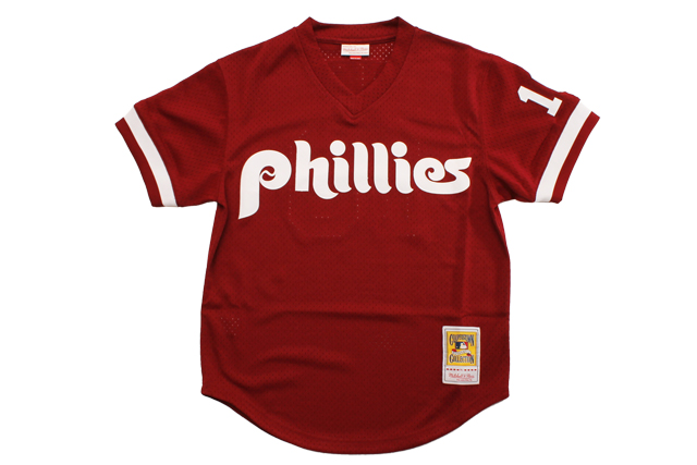 MITCHELL&NESS AUTHENTIC MESH BP JERSEY(PHILADELPHIA PHILLIES/1991:DARREN DAULTON/BURGUNDY)
