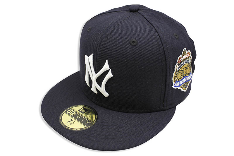 NEW ERA NEW YORK YANKEES 59FIFTY FITTED CAP (1927 WORLD SERIES SIDE PATCH/NAVY)