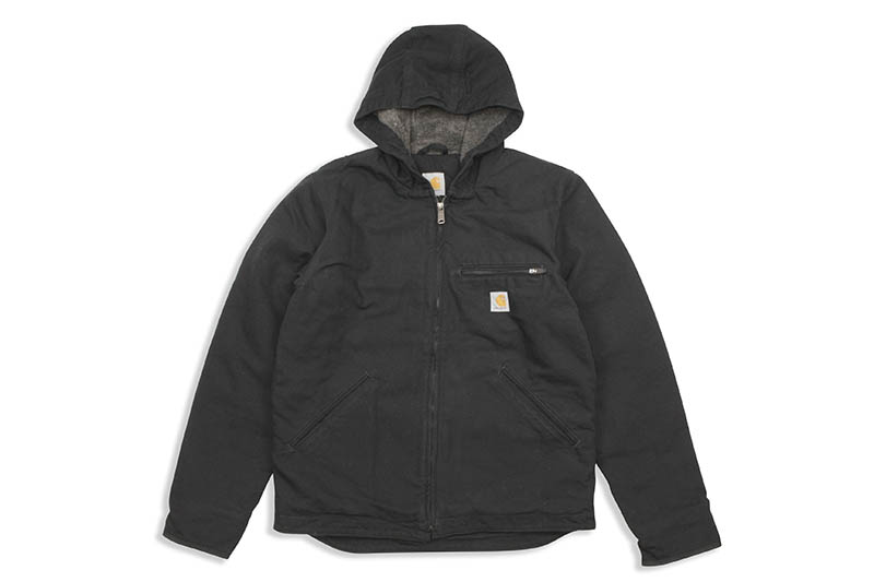 Carhartt WASHED DUCK SHERPA LINED JACKET (104392-BLK/BLACK)
