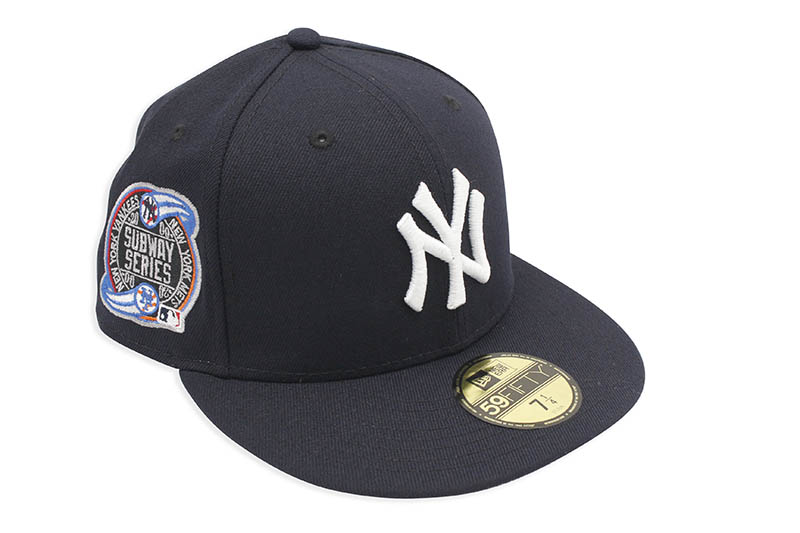 NEW ERA NEW YORK YANKEES 59FIFTY FITTED CAP (2000 SUBWAY SERIES SIDE PATCH/PINK UNDER VISOR/NAVY)