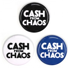 バッジ/CASH FROM CHAOS(54mm/3色)