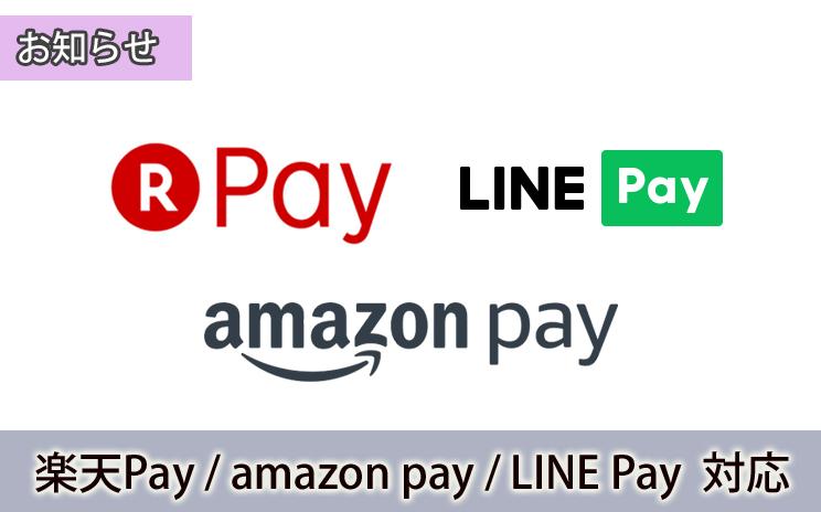 楽天Pay・amazon Pay・LINE Pay対応