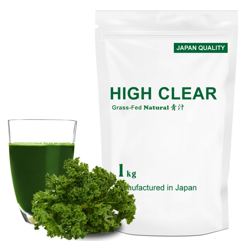 HIGH CLEAR ハイクリアー WPCホエイ グラスフェッド 乳酸菌100億個 プロテイン 1kg(約40回分) 青汁味