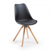 【SALE】LARS Chair natural wood plastic black