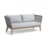 RELAX Sofa 3 seats acacia grey wash rope dark grey