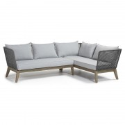 RELAX Sofa corner acacia grey wash rope dark grey