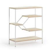 PYKE Bookshelf 80x93 white metal, mango wood