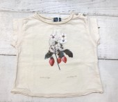 Strawberry plant drawing baby T-shirt